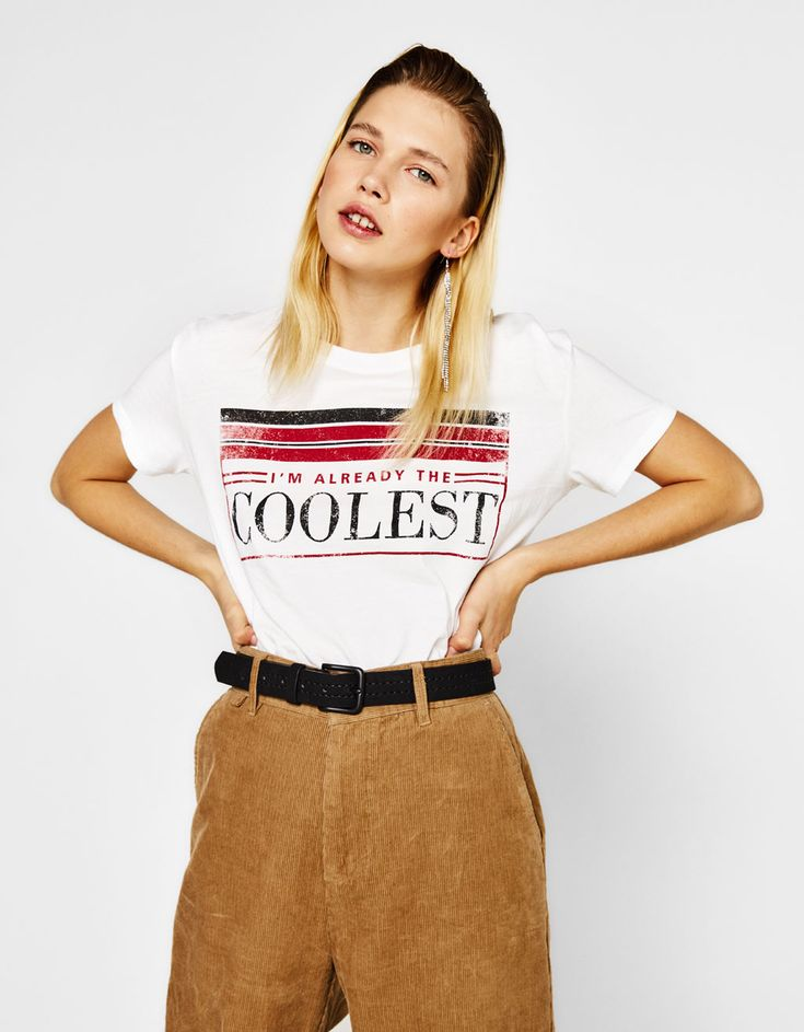 Printed T-shirt. Discover this and many more items in Bershka with new products every week