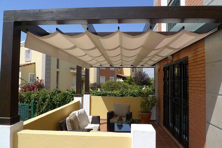 M s de 25 ideas incre bles sobre toldo para sombra solo en for Toldo horizontal terraza