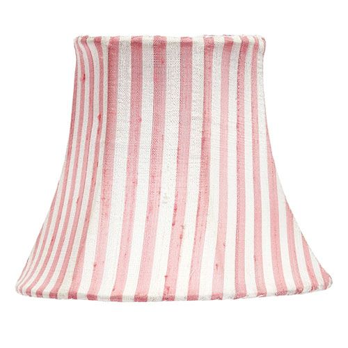 Pink and White Stripe Chandelier Shade $24