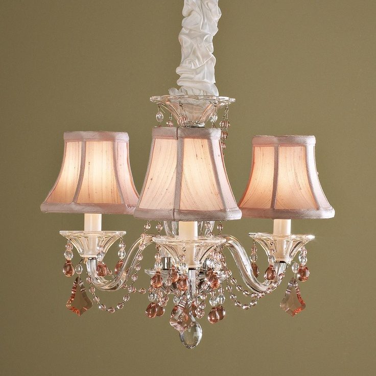 schonbek mini crystal chandelier pink