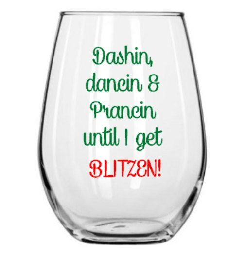 25 Best Ideas About Christmas Wine Glasses On Pinterest