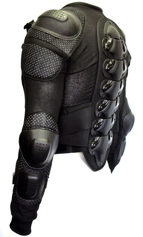 Blackwolf Body Armour Motorcycle Motorbike Motocross spine Protector Guard Bionic Jacket  #ANZ