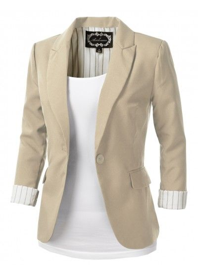 Best 20  Khaki blazer ideas on Pinterest | Black blazer outfits ...