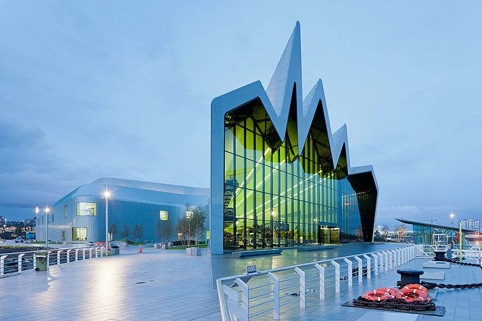 riverside museum glasgow uk by zaha hadid and patrik schumacher architecture contemporary. Black Bedroom Furniture Sets. Home Design Ideas