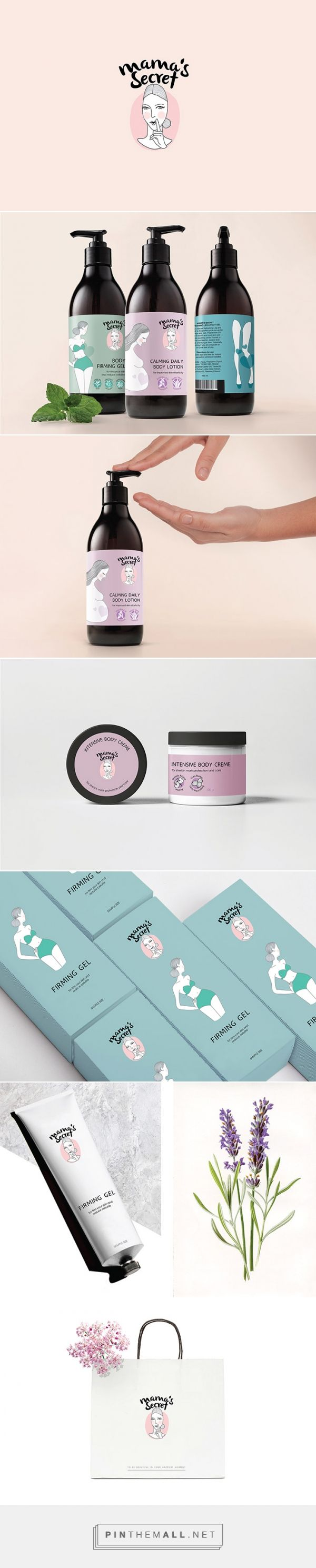 Mama's secret - Body caring products specially made for pregnant women or any mother to be . designed by Ganniga Likitboonrueng
