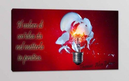 quadro moderno citazione Edison