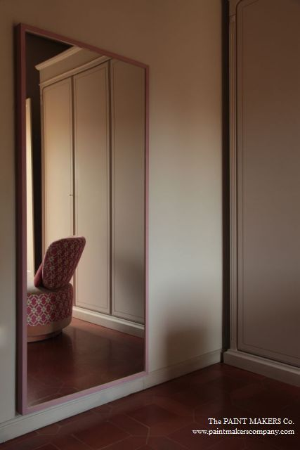 Elegant neutrals with a touch of rose. Wall and furniture in Archetype Grey by The Paint Makers Co.