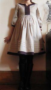 Robe issus du modèle T du Otona Stylish Dress Book 1 (livre 64 sur JCA), Grains de Maïs