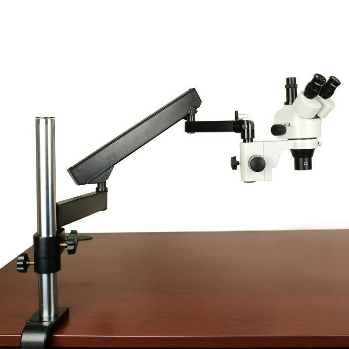 Sponsored Ebay 2 90x Zoom Microscope Articulating Arm Stand 0 3x Aux Lens Long Worki Stereo Microscope Microscopes For Sale Led Ring Light