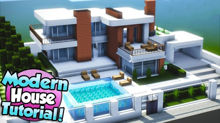 Minecraft: How to Build a Large Modern House Tutor…