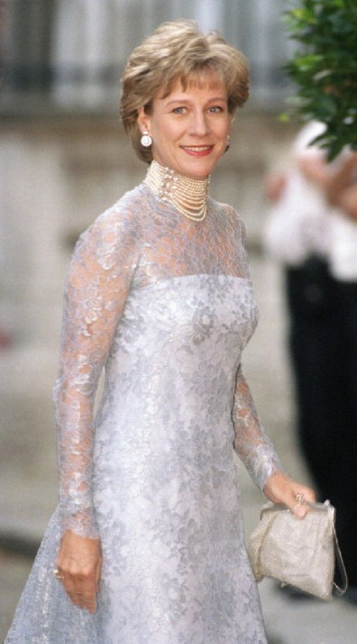 Birgitte, Duchess of Gloucester attends a Gala At Bridgewater House Prior To The Wedding Of Princess Alexia Of Greece And Carlos Morales Quintana in July 1999