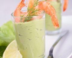 Verrines d'avocat crevettes et fromage frais - CuisineAz !
