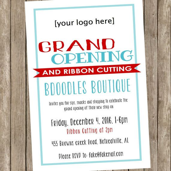 28 best grand opening flyer templates images on pinterest printable grand opening or open house by bdoodlesdesigns on etsy stopboris Images