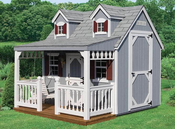 23 best izzys wooden playhouse ideas images on pinterest for Wooden playhouse with garage