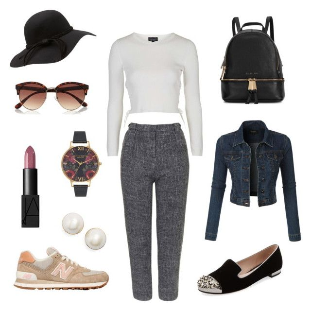 """Untitled #7"" by josefing on Polyvore featuring Topshop, Michael Kors, NARS Cosmetics, Olivia Burton, Miu Miu, New Balance, Kate Spade and River Island"