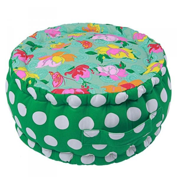 Puff grønn polkadot <3<3<3