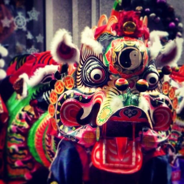 New Years Day dragons dance in Canton Road #Hongkong #newyear - @kate_monaandmidge- #webstagram
