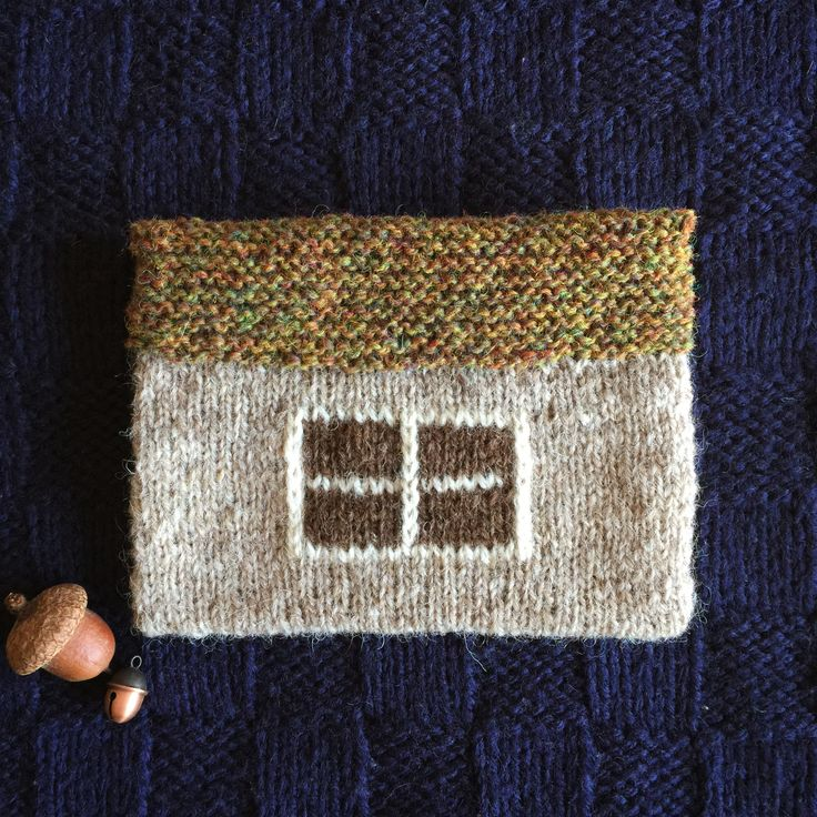 Knitted croft house