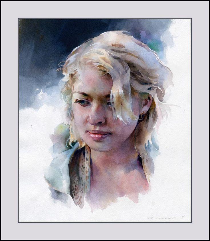Souvent 293 best Portraits Watercolor images on Pinterest | Watercolor  TV88
