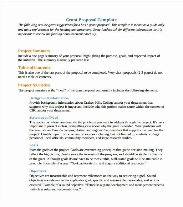 Grant Proposal Sample Pdf Luxury 11 Sample Grant Proposals Word Pdf Pages Proposal Templates Grant Proposal Free Business Proposal Template