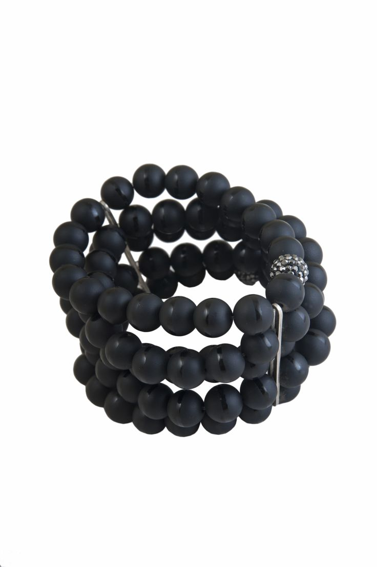 Onyx bracelet with soarovski! #Designer #Jewelry #Fashion #greece#ukkalelle#favorite #accessories#style #beauty #love #glam#street #Accessories #cute#women #online_shopping#beautiful #pretty #girl #girls#bracelet