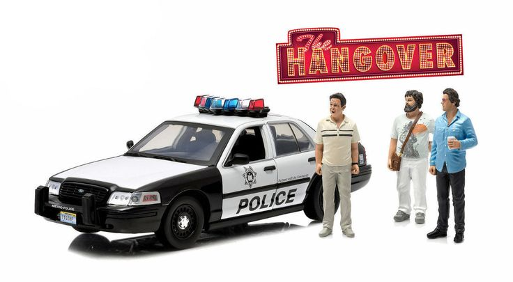 Diecast Auto World - Greenlight 1/18 Scale 2000 Ford Crown Victoria Police Car With 3 Figures THE HANGOVER Diecast Car Model 12911, $64.99 (http://stores.diecastautoworld.com/products/greenlight-1-18-scale-2000-ford-crown-victoria-police-car-with-3-figures-the-hangover-diecast-car-model-12911.html/)