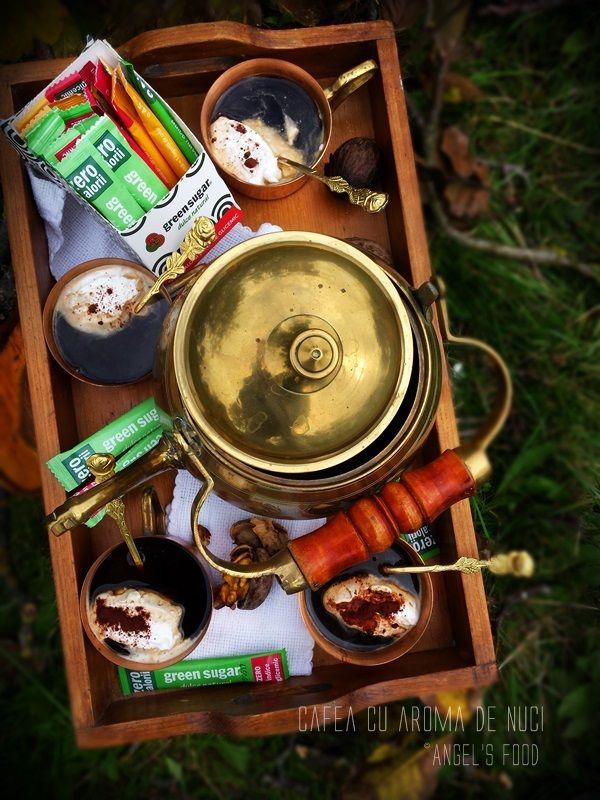 Cafea la ibric cu aroma de nuca