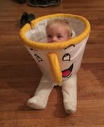 DIY baby costume ideas: Chip from Beauty and the Beast Homemade Costume