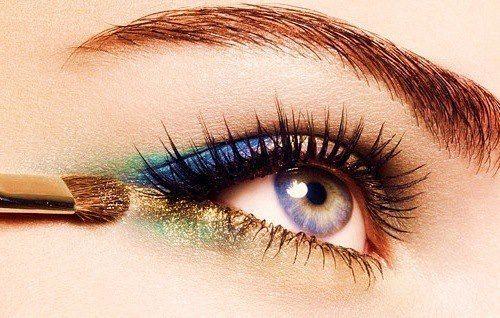 blue, green, gold eyes