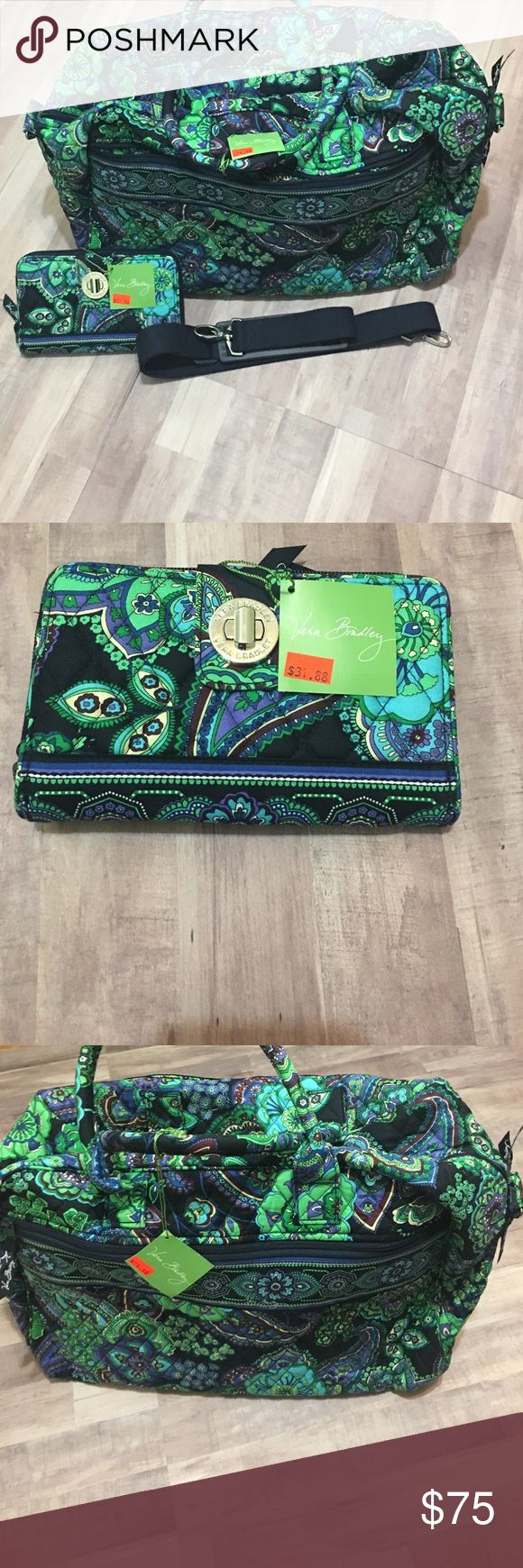 "Vera Bradley Blue Rhapsody Weekender and Wallet NWT! EARLY MOTHERS DAY SALE!!🍾🎉🍾🎉🍾                 Gorgeous Vera Bradley Blue Rhapsody Weekender & Turn Lock Wallet! Gorgeous!                                                   ***Approximate measurements 18"" w x 12"" h x 7"" d with 6"" strap drop; and 48"" removable, adjustable strap Vera Bradley Bags Travel Bags"