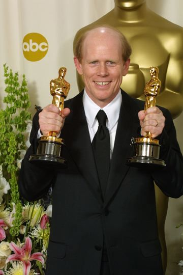 Ron Howard 2002, Holding his Academy Award for Best Director for 'A Beautiful Mind', 2001 - It won for 'Best Picture', Best Supporting Actress & Best Adapted Screen Play. . .