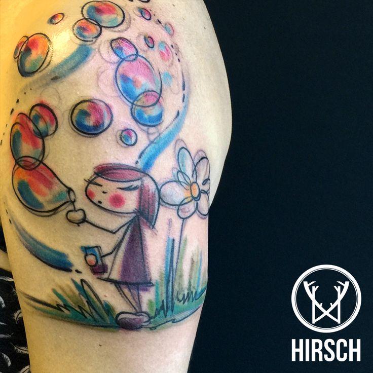 Tatuaggi watercolor, watercolor tattoo
