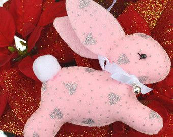 Felt Easter Bunny  Bunny Decor  Personalised Bunny   by FlossyTots