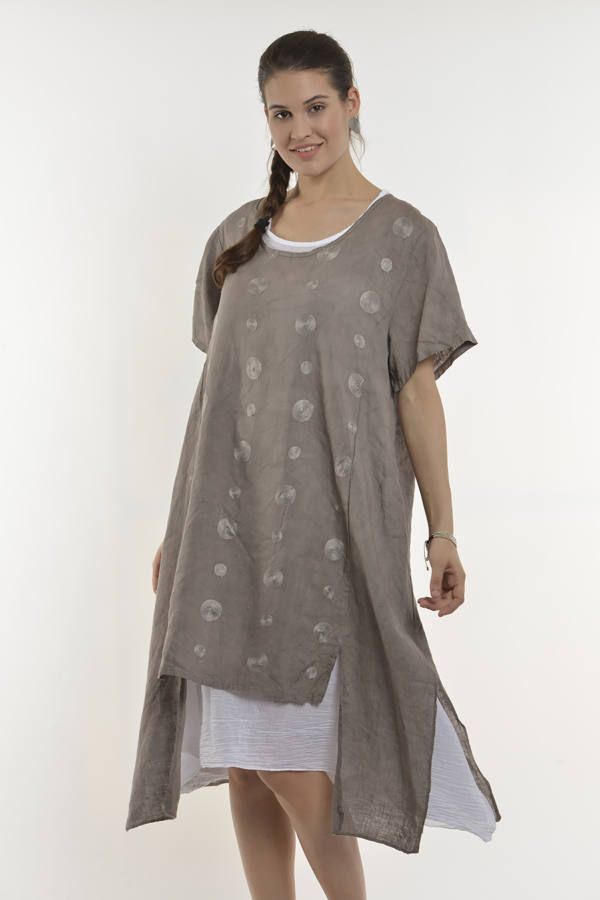 d8389c3fc7 Réteges len ruha | Ruhák | Tunic tops, Shirt Dress és Dresses