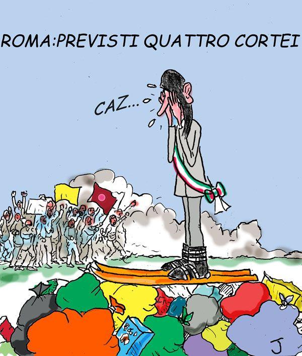 Lo slalom della sindaca di #Roma #Raggi…dalle grane e dai sacchi dell'immondizia. #M5S