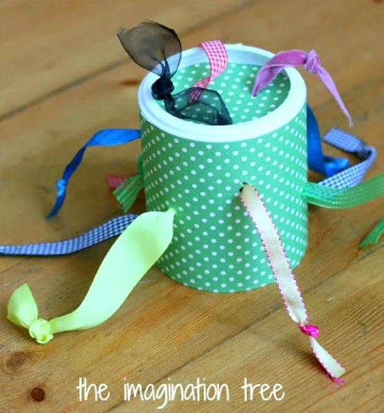 DIY tugging toy for babies and toddlers