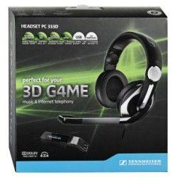 SENNHEISER PC333D Słuchawki Multimedialne  SEN0048ESM Model PC 333D przełamuje stereotypy w zawodowych rozgrywkach 3D. Jego hiperrealistyczny, wielokanałowy pejzaż brzmieniowy oraz zamknięta, przylegająca do uszu budowa wyniosą nawet najostrzejszą imprezę LAN na zupełnie nowy poziom doznań.  Dźwięk przestrzenny - unikalna jakość dźwięku 7.1 w technologii Dolby* Good sound quality and well suited to those with small ears, but for £100 we wanted something more robust