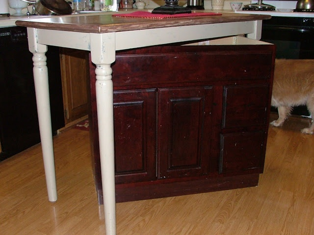 Building a kitchen island from an old cabinet and tall table  Stock  CabinetsOld CabinetsBase CabinetsDiy  114 best kitchen island images on Pinterest   Home  Dream kitchens  . Make A Kitchen Island From Stock Cabinets. Home Design Ideas