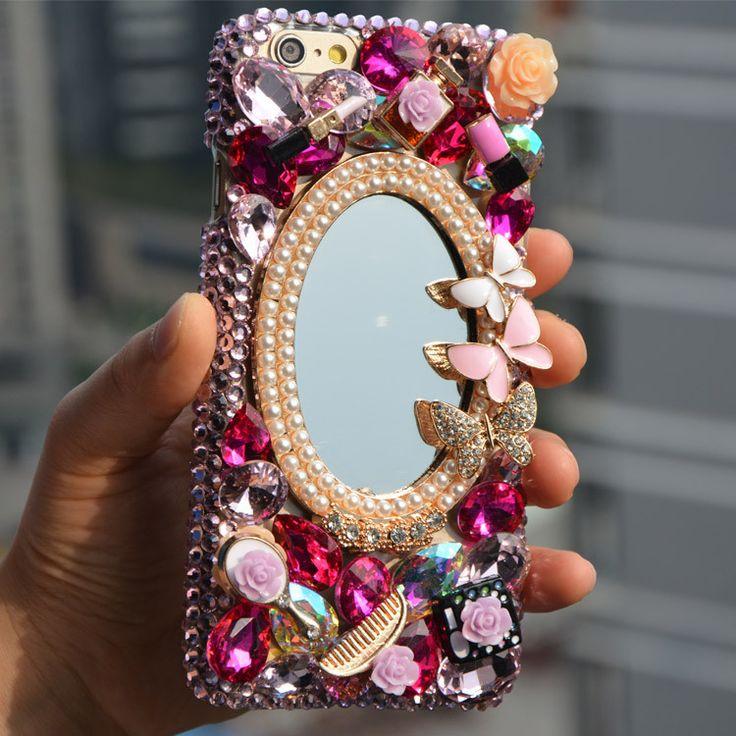 fashion luxury diamond bling mirror For Apple Iphone 7 7plus 6 6splus 5 5s 5c 4 4s 3D rhinestone case quality crystal phone Case