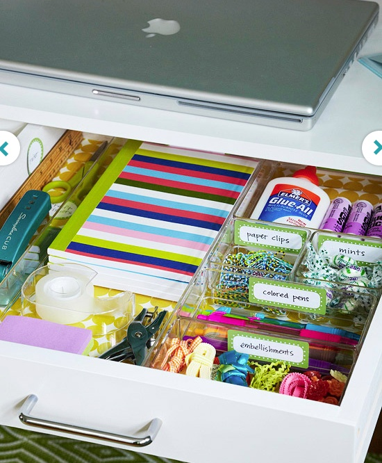 Great desk organization, especially for smaller objects. I like how it's made of clear plastic.