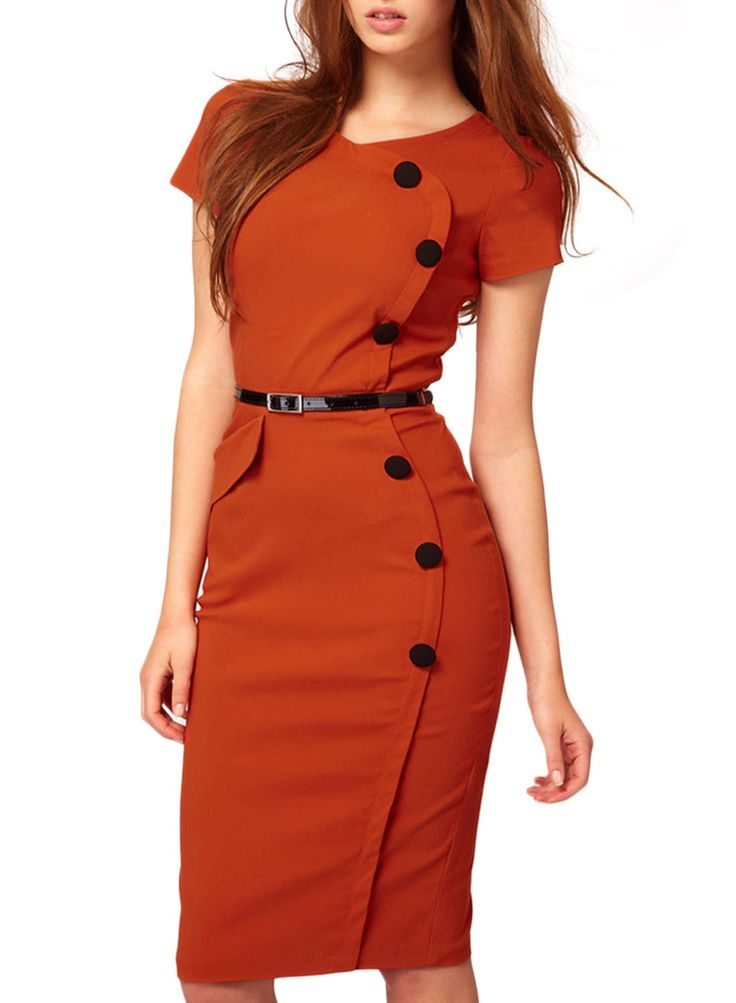 Miusol® Women's Vintage Cap Sleeves Business Bodycon Dress at Amazon Women's Clothing store: