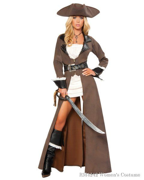 Sexy Deluxe Pirate Captain Women s Costume Done in more of a traditional  pirate style 5af21e94c1d2