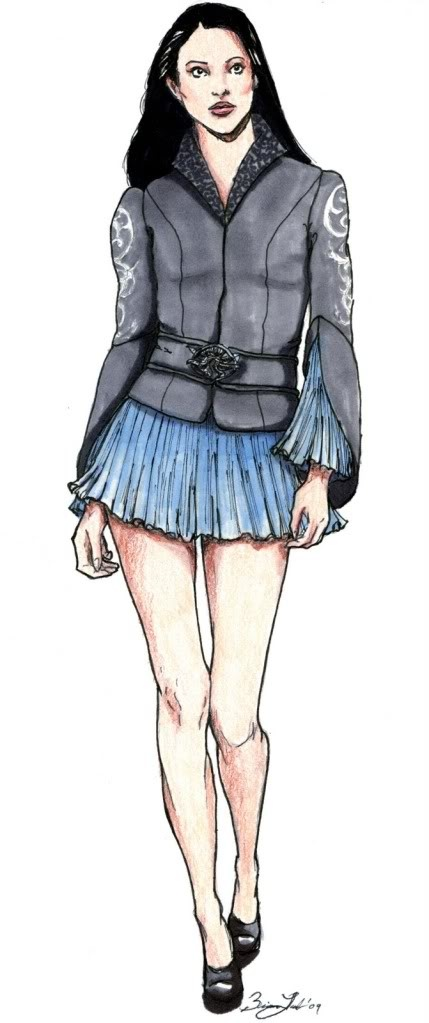 Clothing design by Briana Lamb  {I would totally wear this jacket. Based on Arwen's LOTR chase costume.}