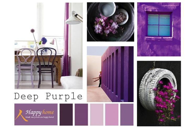 Deep purple een kleur met vele nuances van bijna for Interieur kleur