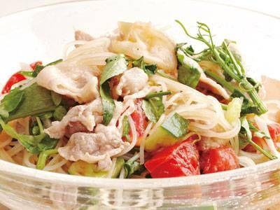 豚しゃぶサラダビーフンレシピ 講師は嶋 典雄さん|使える料理レシピ集 みんなのきょうの料理 NHKエデュケーショナル