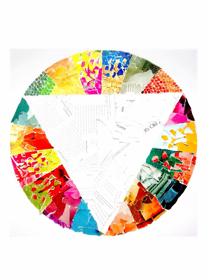Collaged Colour Wheel