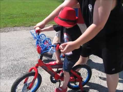 Max and His New Spider-Man Bicycle