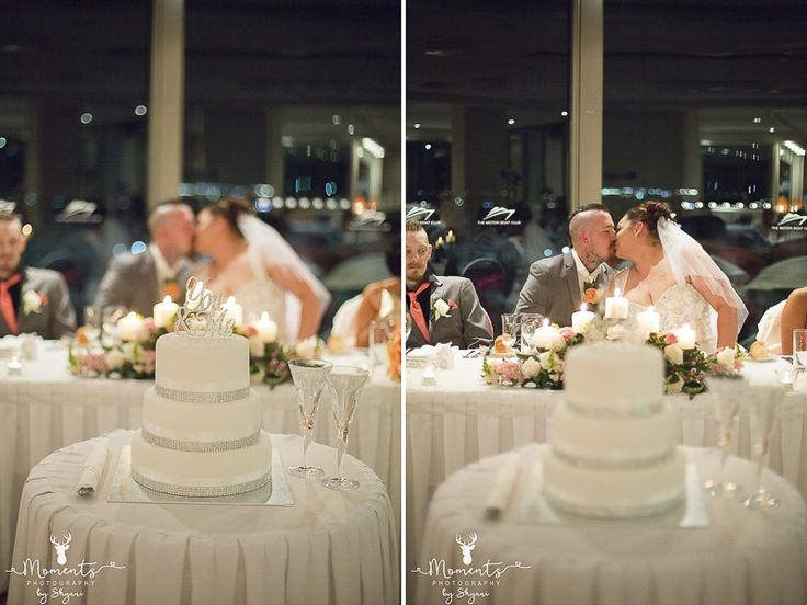 Sydney Wedding Photography. Wedding cake topper. wedding decor. Pink. Wedding reception. Kiss. www.momentsphotography.com.au