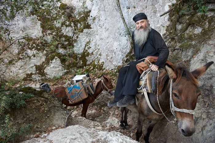 Monk on Mount Athos, Greece #Halkidiki #MountAthos