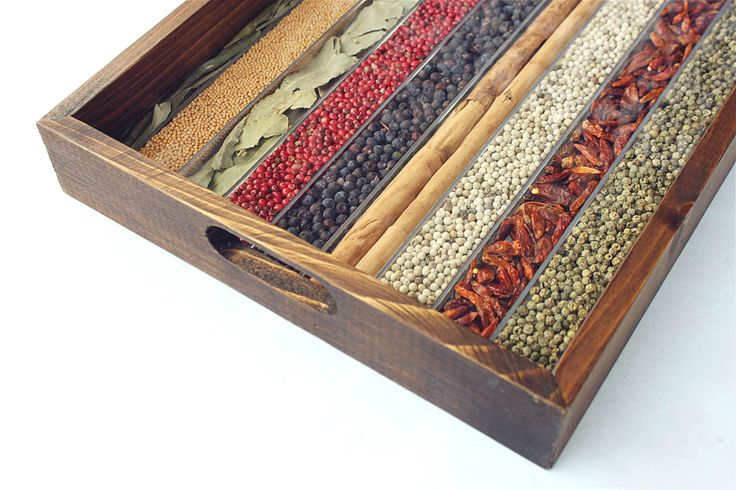 WOODEN TRAY DECORATED WITH NATURAL SPICES 90€ - Tray of natural spices, used as seasonings for cooking. Do not remove internal spices / Spices unsuitable for consumption #SpicesTray - #Gift on #Amazon by http://www.amazon.de/gp/aag/main?seller=A1QPL980FAHTMT